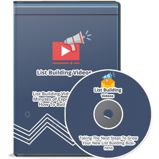 NEW List Building Videos Almost 30 Minutes of Expert Training
