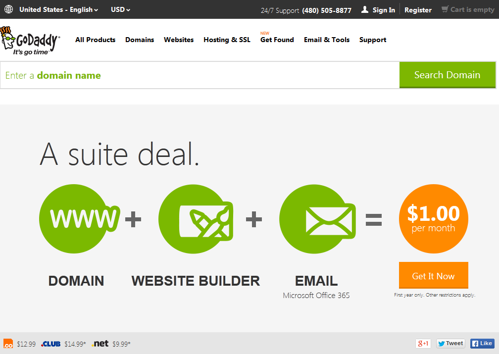 register the domain name from a reliable doman registrar called Godaddy