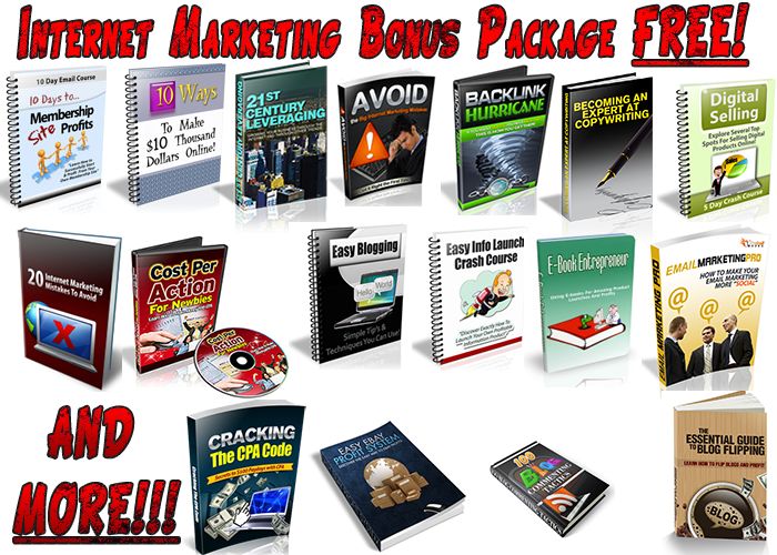 Internet Marketing Bonus Package