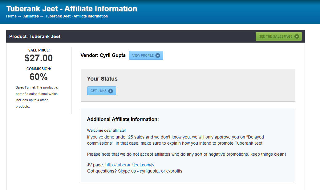 JVZoo Review, how the affiliate commissions work