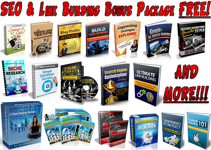 Get this SEO & Link Building Bonus Package if you make a purchse.