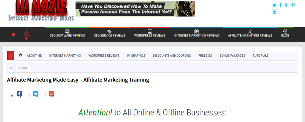 Free Affiliate Marketing Training Program
