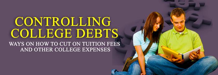 Controlling college debts