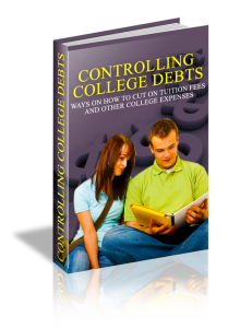 controlling college debts cover