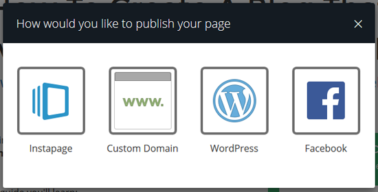 Instapage Review Publishing Your Landing Page