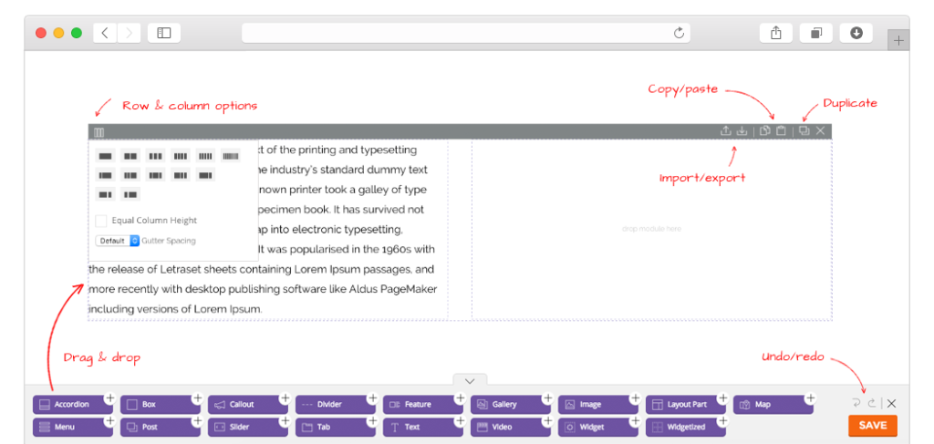Themify Builder Features