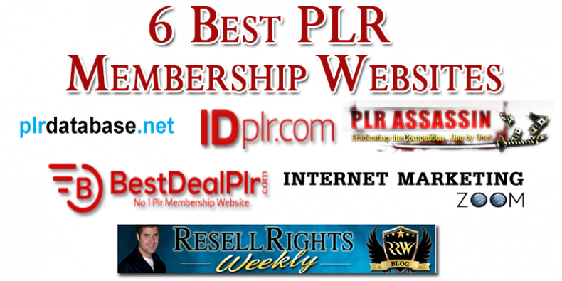 The 6 best plr membership sites resell rights 2018 fandeluxe Choice Image