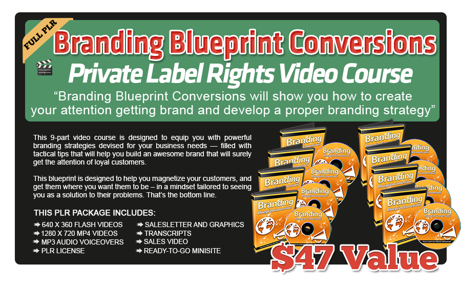 Branding Blueprint Conversions PLR Videos