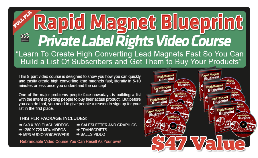 Rapid Magnet Blueprint PLR Videos