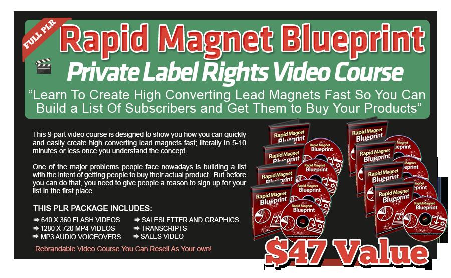 Rapid Magnet Blueprint PLR Videos