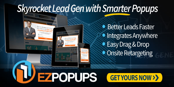 EZ Popups smarter lead generation and conversion