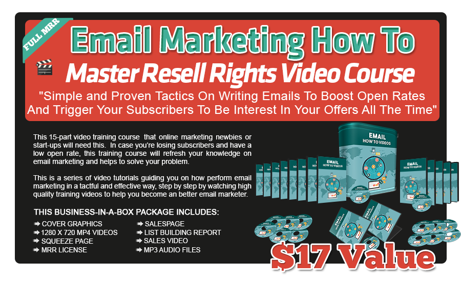Email Marketing Training Videos with Master Resale Rights