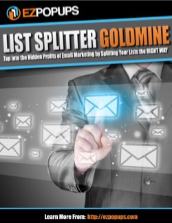 List Splitter Goldmine - EZ Popups Bonus