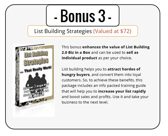 List Building 2.0 Bonus
