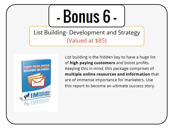 Best List Building 2.0 Bonus