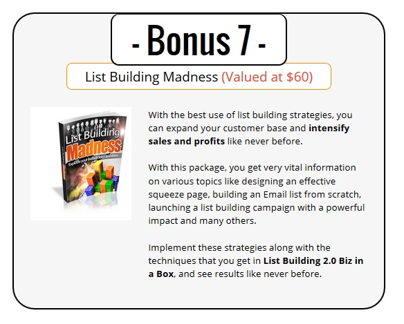 Best List Building 2.0 Bonus