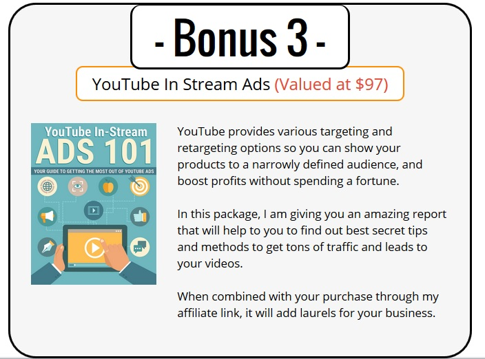 YouTube Ads PLR Bonus 3 - YouTube Instream Ads 101