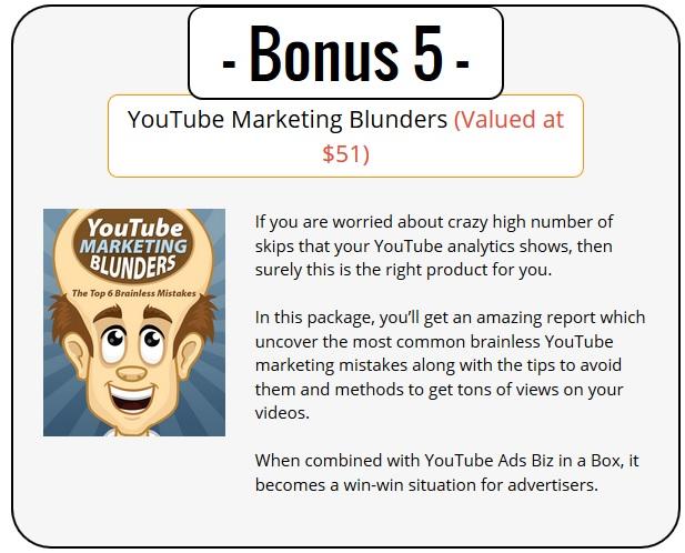YouTube Ads PLR Bonus 5 - YouTube Marketing Blunders