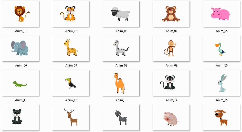 Pixel Studio FX 2.0 Bonus 10 - Vector Graphics - Animals