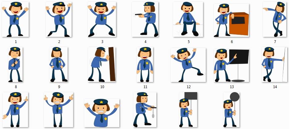 Pixel Studio FX 2.0 Bonus 15 - Character Graphics - Policeman