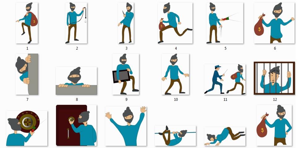 Pixel Studio FX 2.0 Bonus 15 - Character Graphics - Thief