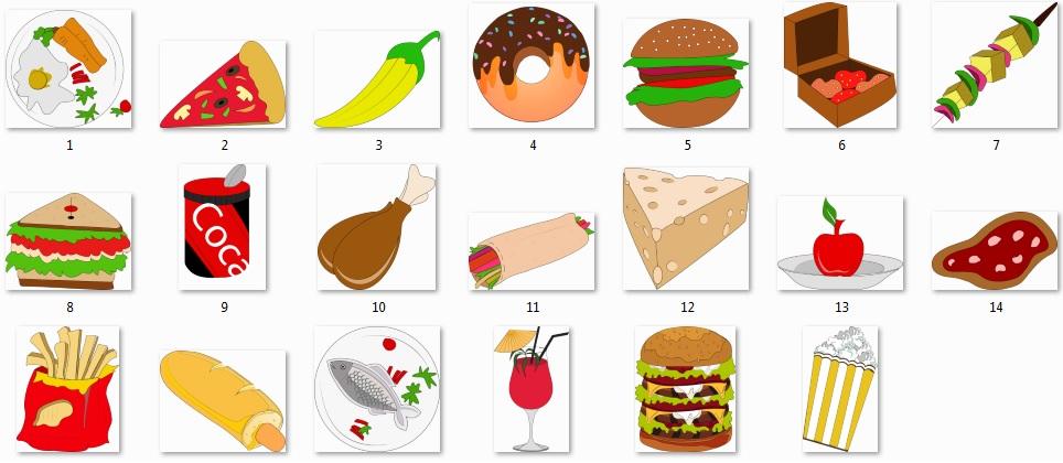 Pixel Studio FX 2.0 Bonus 17 - Character Graphics - Food Objects