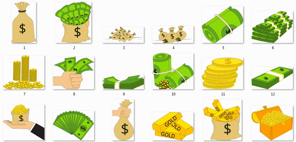 Pixel Studio FX 2.0 Bonus 18 - Character Graphics - Money Objects