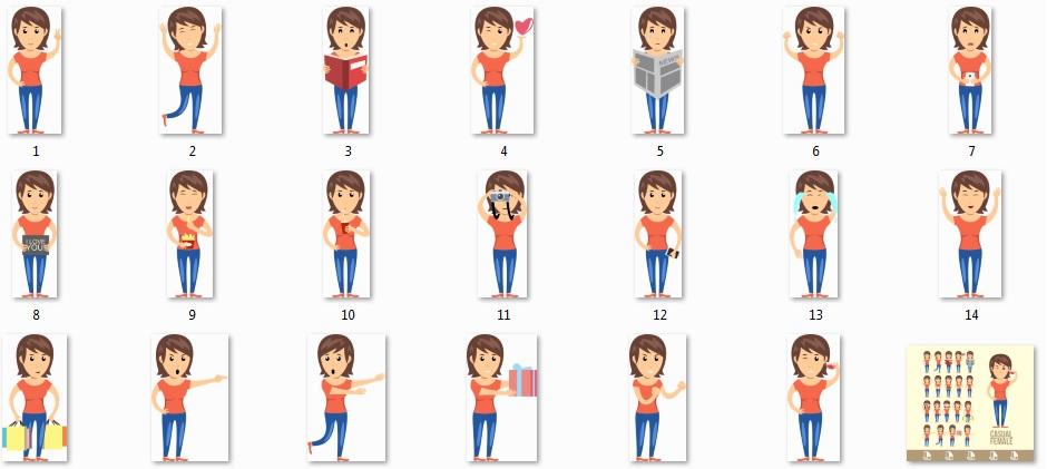 Pixel Studio FX 2.0 Bonus 19 - Woman Mascot Characters
