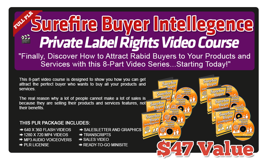 Pixel Studio FX 2.0 Bonus 21 - Surefire Buyer Intelligence PLR Video Course