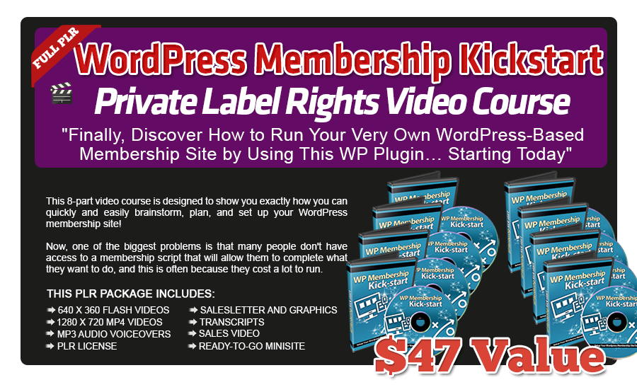 Pixel Studio FX 2.0 Bonus 22 - WordPress Membership Kickstart PLR Video Course