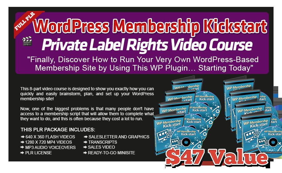Pixel Studio FX 2.0 Bonus 22 - WordPress Membership Kickstart PLR Video Course