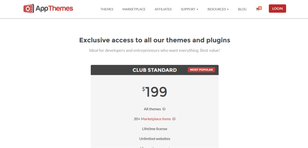 AppThemes Standard Club edition All Themes Lifetime License