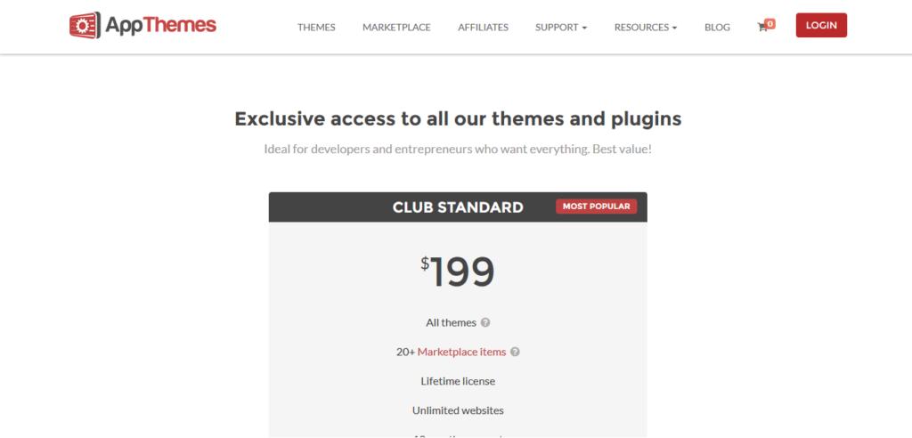 AppThemes Standard Club edition All Themes Lifetime License