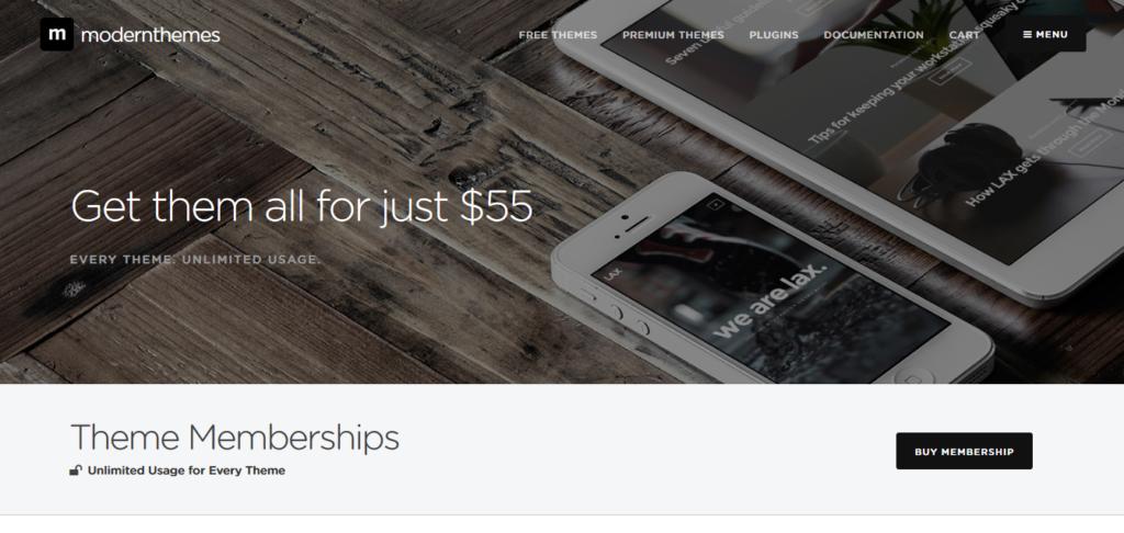 Modern Themes Lifetime WordPress Themes Membership