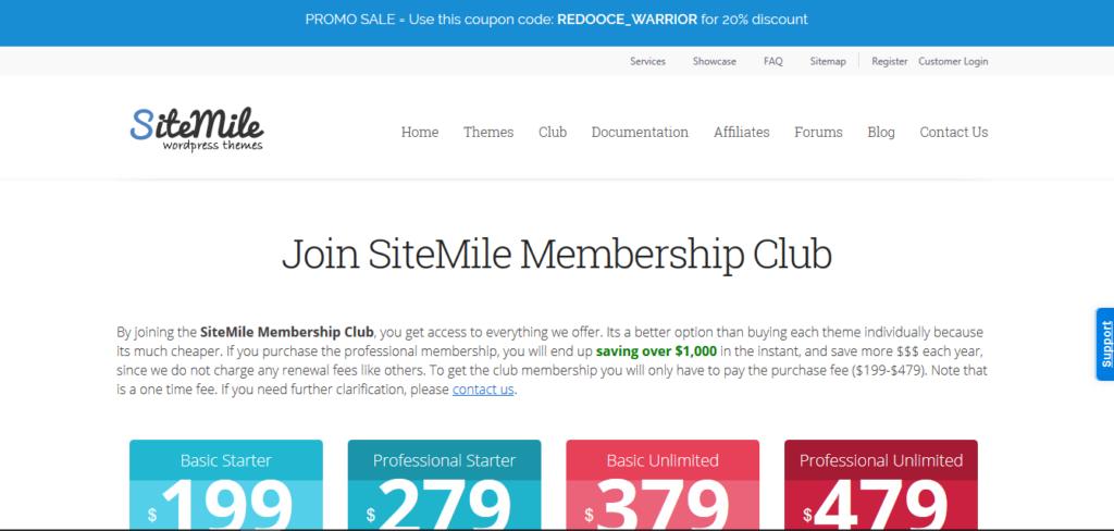 SiteMile All Theme Access Lifetime Membership Club