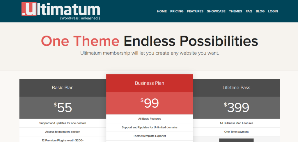 Ultimatum Theme Lifetime Pass
