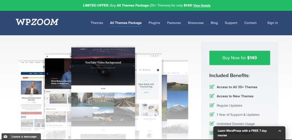 WPZOOM All Themes Package Lifetime License