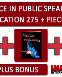 Excellence In Public Speaking And Communication 275 + Piece PLR Pack