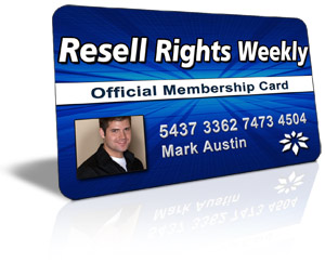 Resell Rights Weekly Free PLR Membership
