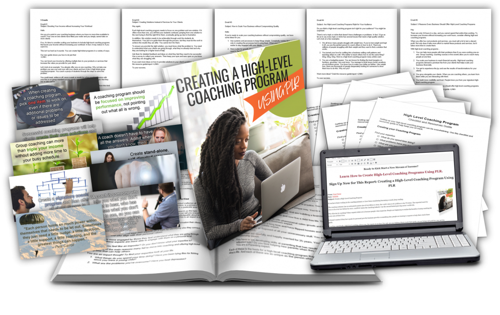 Creating a High Level Coaching Program PLR