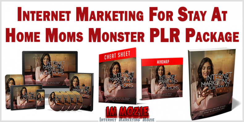 Internet Marketing For Stay At Home Moms Monster PLR Package