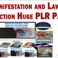 Manifestation and Law of Attraction Huge PLR Package