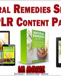 Natural Remedies Secrets PLR Content Pack