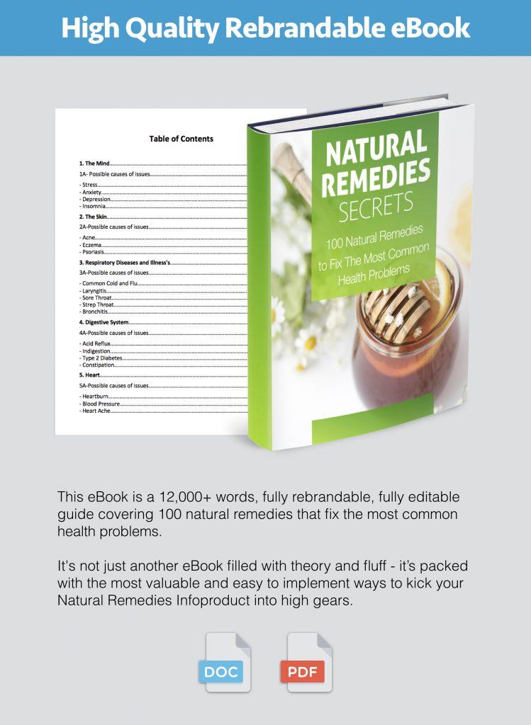 Natural Remedies Secrets PLR Content Pack Modules 1