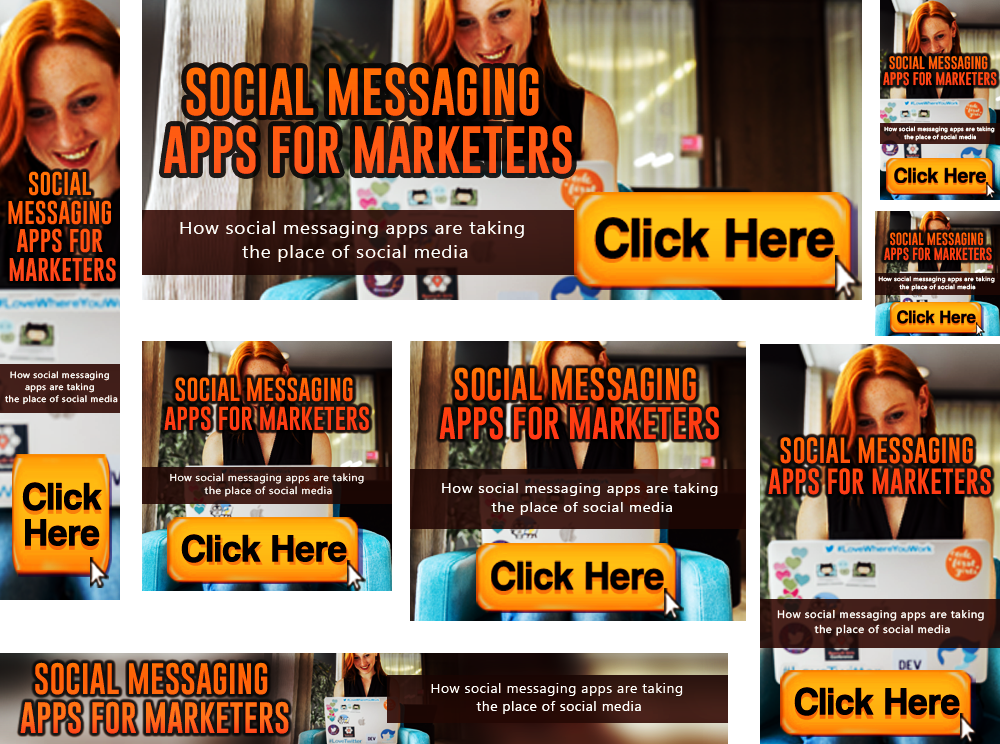 Social Messaging App For Marketers banners