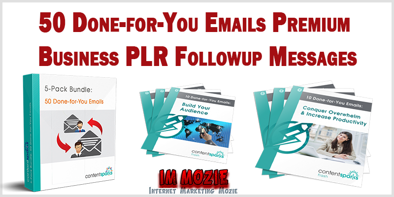 50 Done for You Emails Premium Business PLR Followup Messages