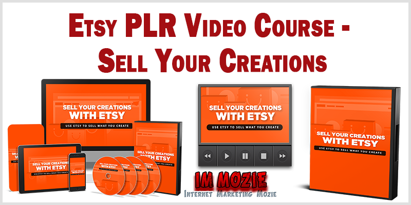 Etsy PLR Video Course Sell Your Creations