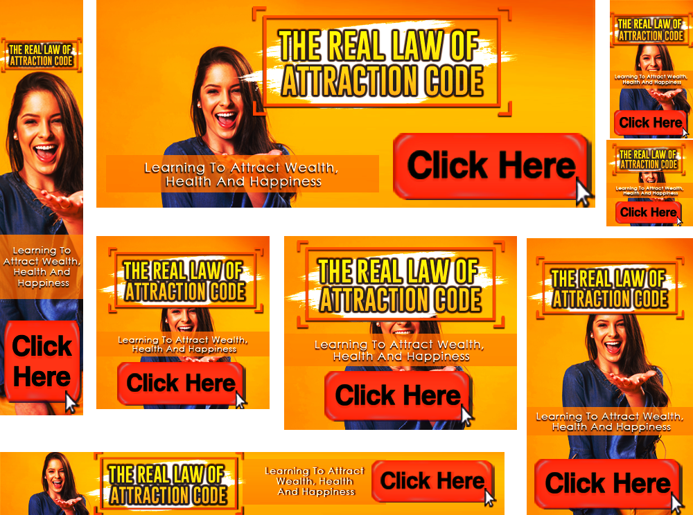 The Real Law Of Attraction Code Banners