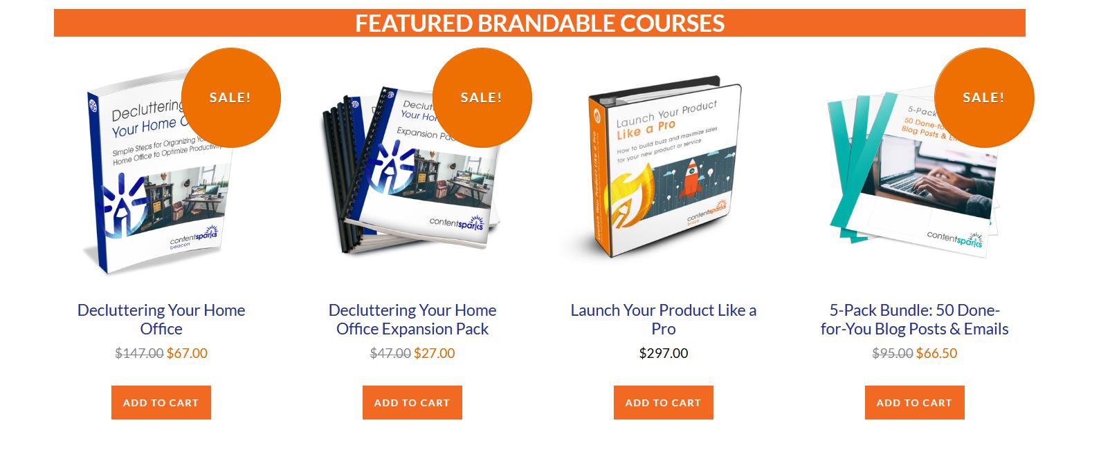 Content Sparks Brandable Courses