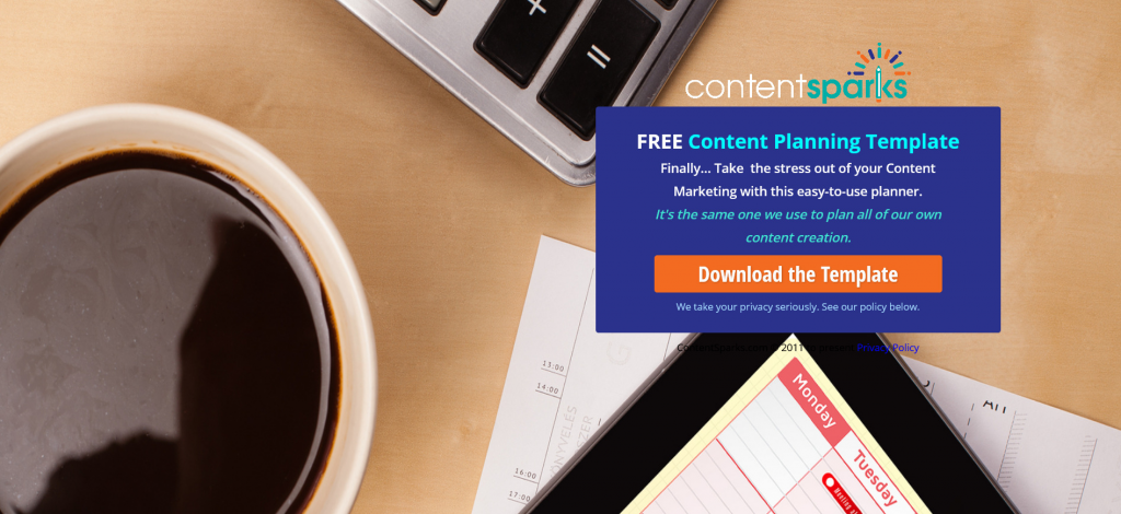 Content Sparks Free Content Planning Template